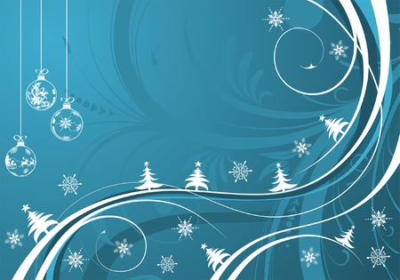 Christmas background with sphere and wave pattern, element for design, vector illustration Vector