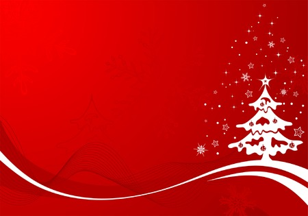 Christmas background with tree, element for design, vector illustration Stock Vector - 3895072