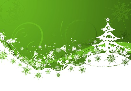 christmas vector: Christmas background with sphere and wave pattern, element for design, vector illustration Illustration