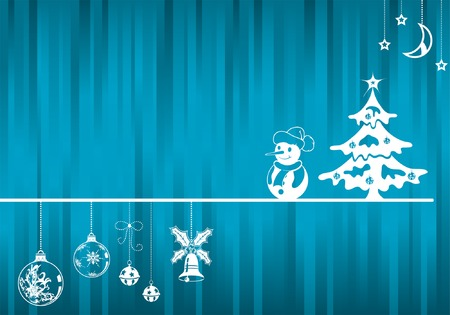 Christmas background with decoration element, vector illustration Vector