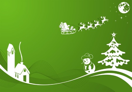 Christmas background with tree, element for design, vector illustration Vector