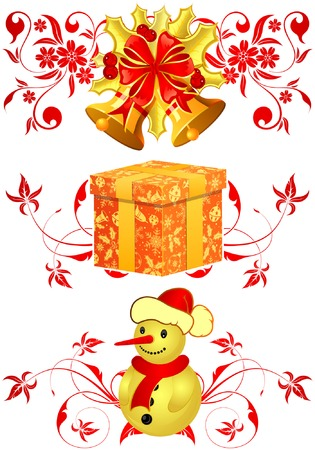 Christmas theme with decoration element, vector illustration Vector