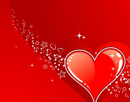 Valentines Day background with Hearts, element for design, vector illustration