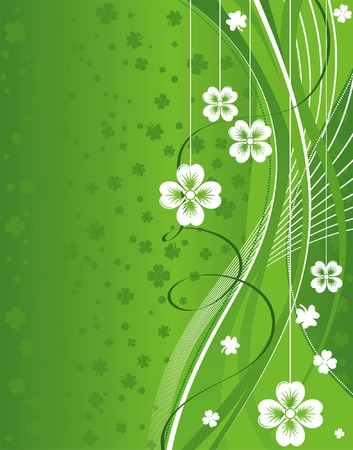 St. Patricks Day Background with wave pattern Vector