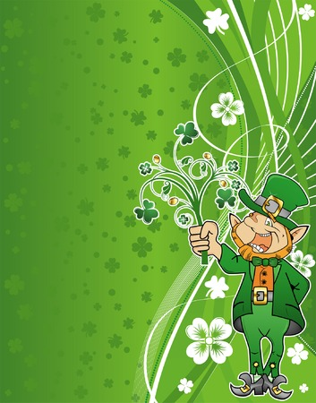 St. Patricks Day Background with wave pattern