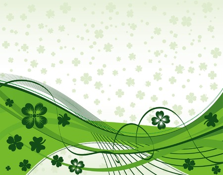 St. Patrick's Day Background with wave pattern Stock Vector - 4382916