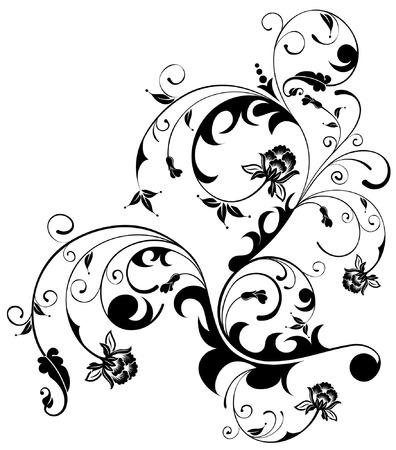 floral vector: Floral Background, element for design, vector illustration Illustration