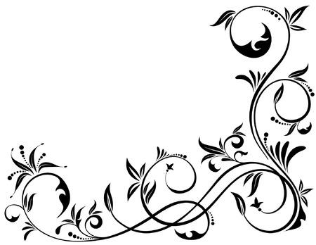 Floral Background, element for design, vector illustration Stock Vector - 4491283