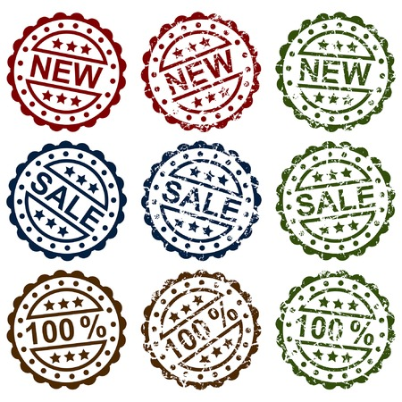 Collection grunge stamps, element for design, vector illustration Vector