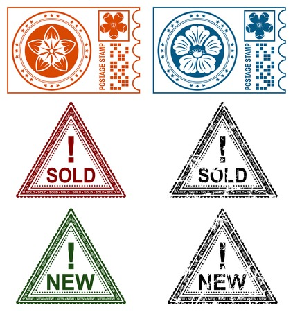 Collection grunge stamps, element for design, vector illustration Stock Vector - 5171664