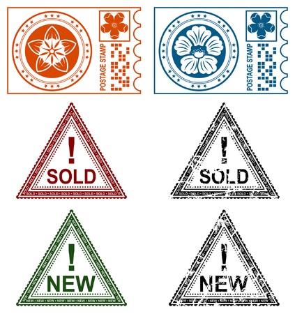 Collection grunge stamps, element for design, vector illustration Vector