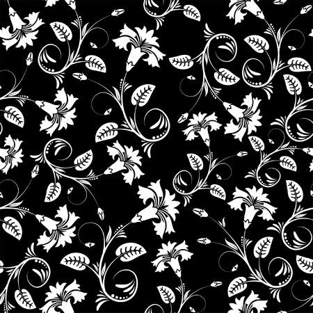 iteration: Fiore senza soluzione di modello con foglia, elemento per la progettazione, illustrazione vettoriale