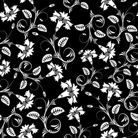 Flower seamless pattern with leaf, element for design, vector illustration Vector