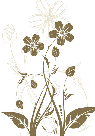 Floral Background, element for design, vector illustration Vector