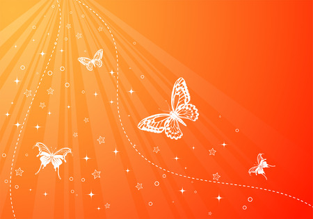 Abstract background with butterfly, element for design, vector illustration Vector
