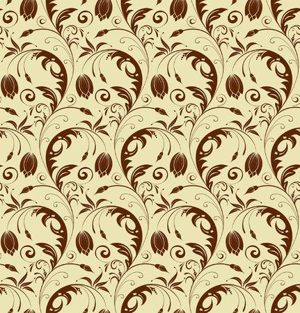 iteration: Seamless pattern floreale, elemento per la progettazione, illustrazione vettoriale