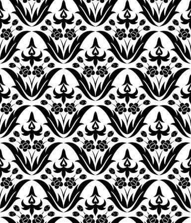 Flower seamless pattern, element for design, vector illustration Stock Vector - 5221045