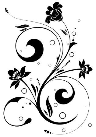 floral vector: Floral de fondo con el c�rculo, elemento para el dise�o, ilustraci�n vectorial Vectores