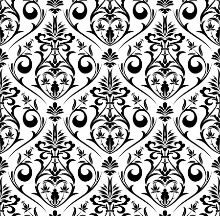 iteration: Flower seamless pattern, element for design, vector illustration