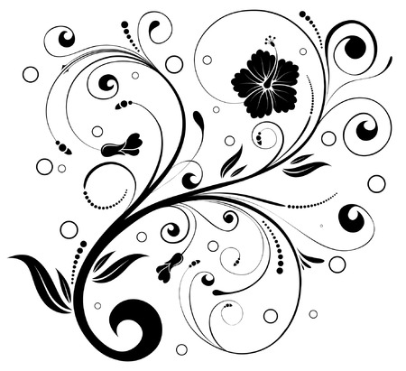 bunch of flowers: Floral ornament with circle, element for design, vector illustration Illustration