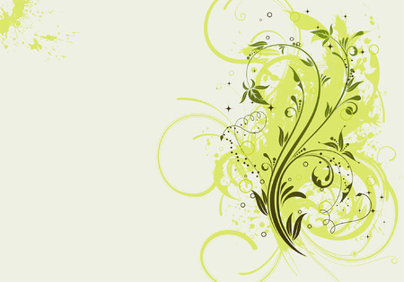 Grunge Floral Background for design, vector illustration Vector