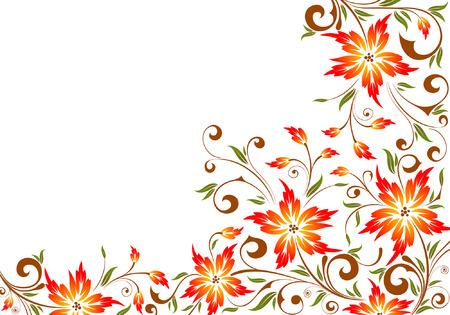 Flower background, element for design, vector illustration Vector