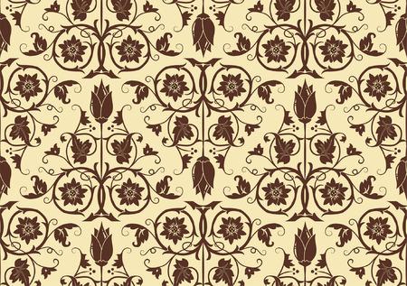 Flower seamless pattern, element for design, vector illustration Stock Vector - 5717543