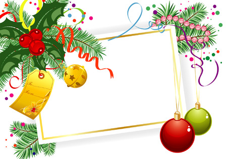 Christmas theme with mistletoe, bell, element for design, vector illustration Vector