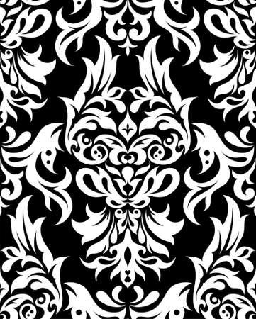 seamless damask: Floral seamless pattern, element for design, vector illustration Illustration