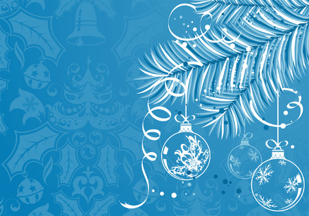 Christmas background with baubles, element for design, vector illustration Vector