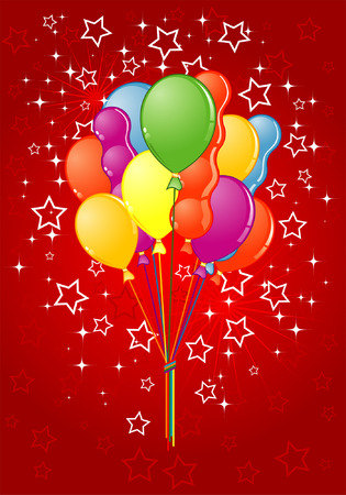 Party Time theme with Balloon, element for design Vector