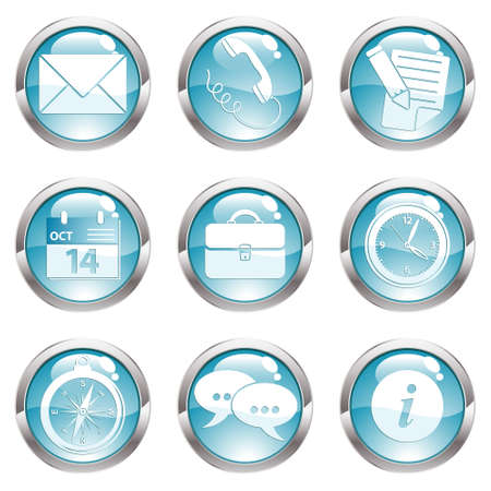 Nine circle gloss icon for internet Stock Vector - 5987007