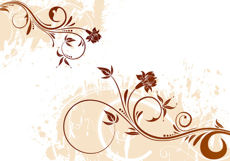 Grunge Floral background for design, vector illustration Illustration