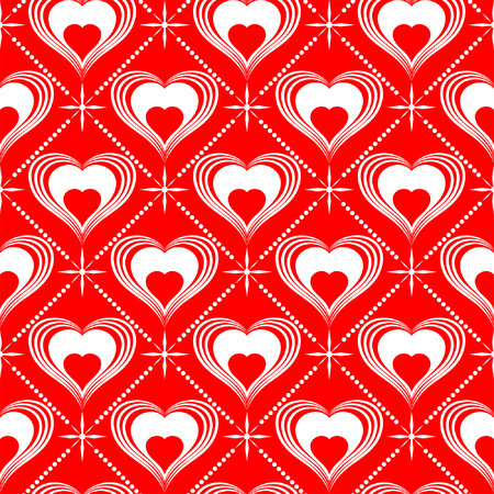 Valentines Day seamless pattern with Hearts, element for design, vector illustration Stock Vector - 6344524