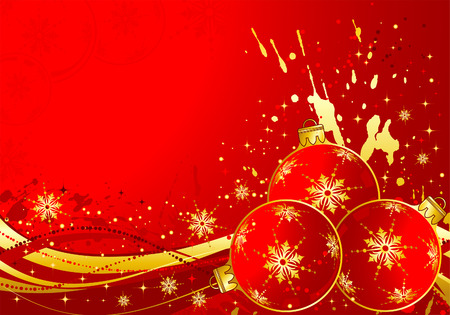 Christmas background with sphere and wave pattern Stock Vector - 7728214