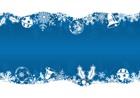 Christmas frame with snowflakes and decoration element,   illustration Vector