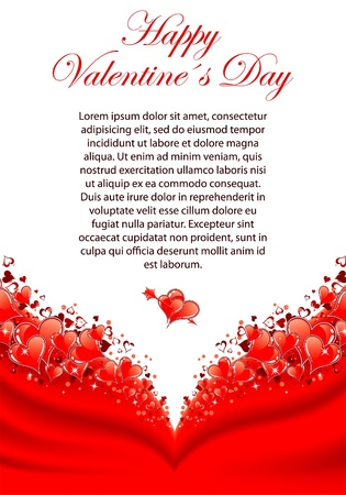 valentine day love beautiful: Valentines Day Greeting Card with Hearts, element for design, vector illustration Illustration