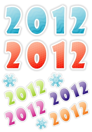 New Year Symbol with 2012 number pattern, element for design, vector illustration Stock Vector - 11453325