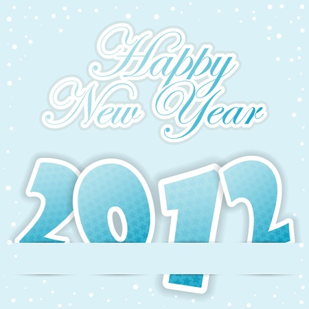 New Year Greeting Card with 2012 number pattern, element for design, vector illustration Stock Vector - 11453324