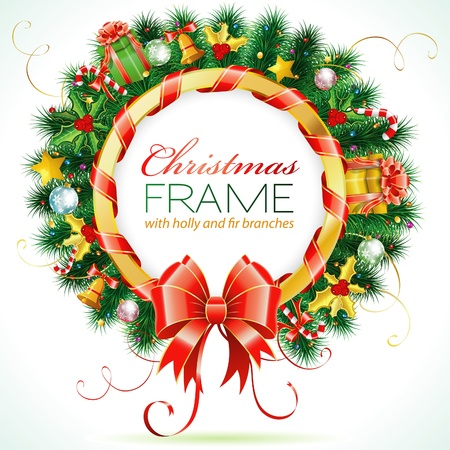 muerdago: Decorativos Guirnalda de la Navidad con la cinta, el caramelo y el elemento de la decoraci�n