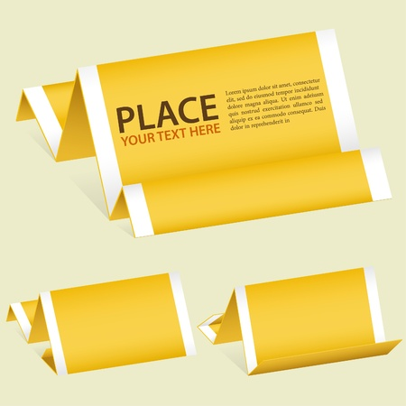 Collect Paper Origami Banner, element for design, illustration Vector