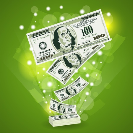 Concept Success in Business with Dollar Bills, template for design Stock Vector - 12489891