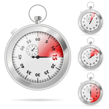 the interval: Set of Timers with Various Indications the Time, illustration