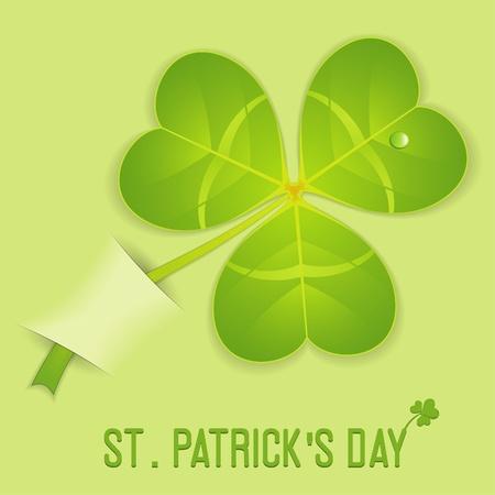 Stylized Leaf Clover on St. Patricks Day in Pocket, vector illustration Vector