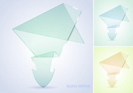 recoger: Recoger Flecha Vidrio, elemento para el diseño