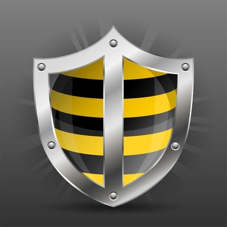 Shield Security Warning Markings illustration Stock Vector - 13483676