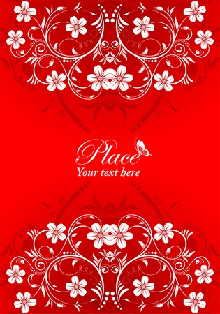 Decorative Flower Frame with bud, element for design, vector illustration Vector