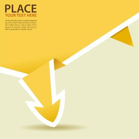 element for design: Paper Origami Arrow, element for design Illustration