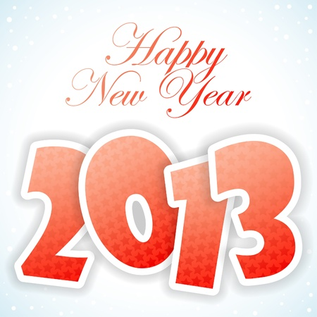 New Year Greeting Card with 2013 number pattern, element for design, vector illustration Stock Vector - 14937305