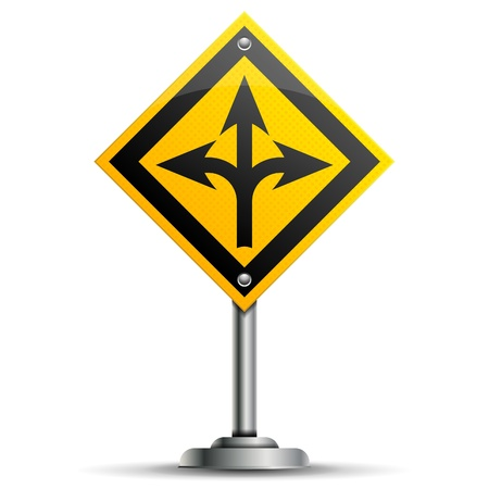 any: Pole with Sign pointing to direction of any, isolated on white background, vector illustration